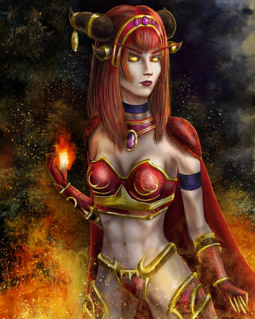 Alexstrasza sexy busty picture