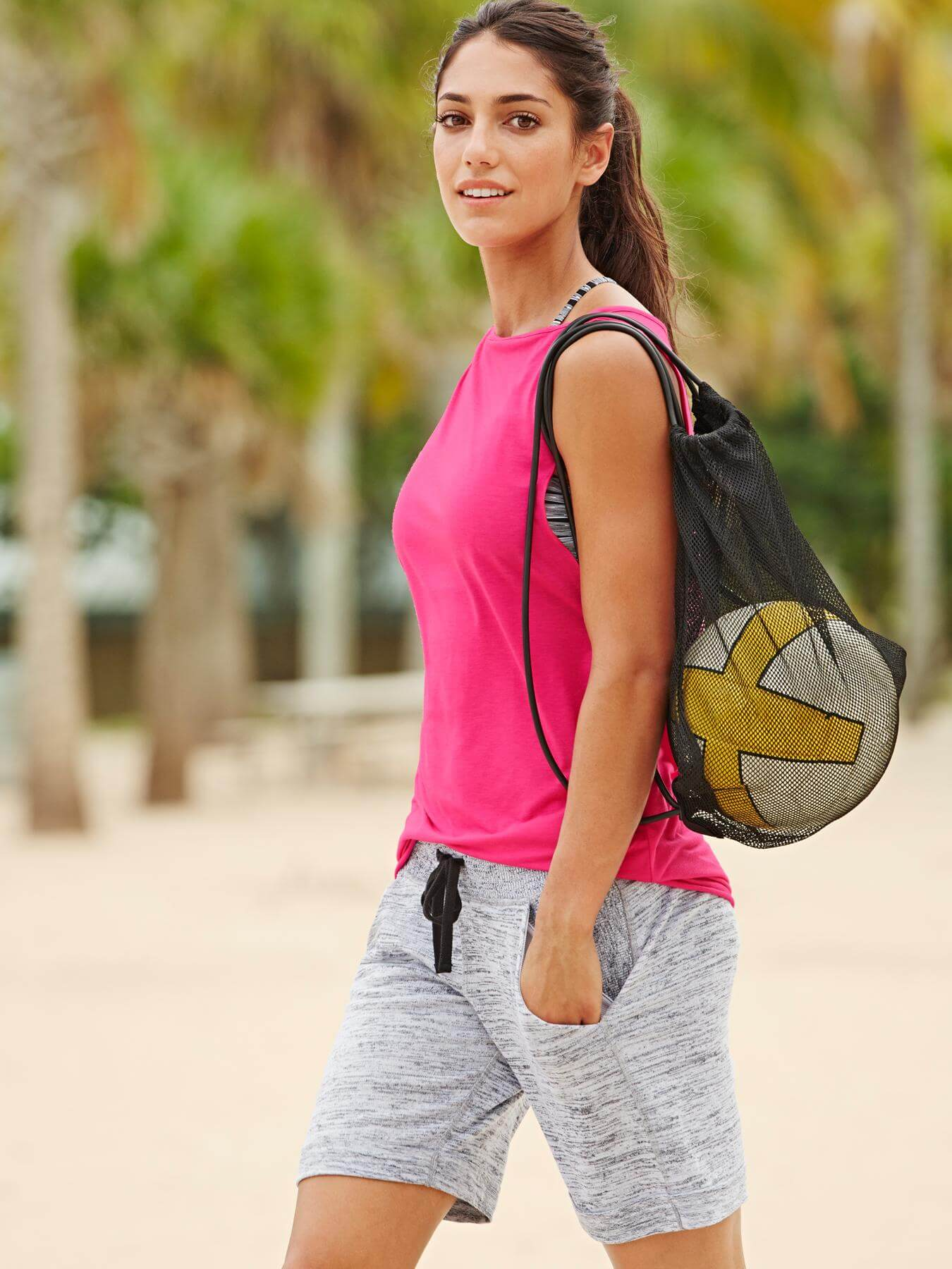 Allison Stokke Hot in Pink Sports Wear