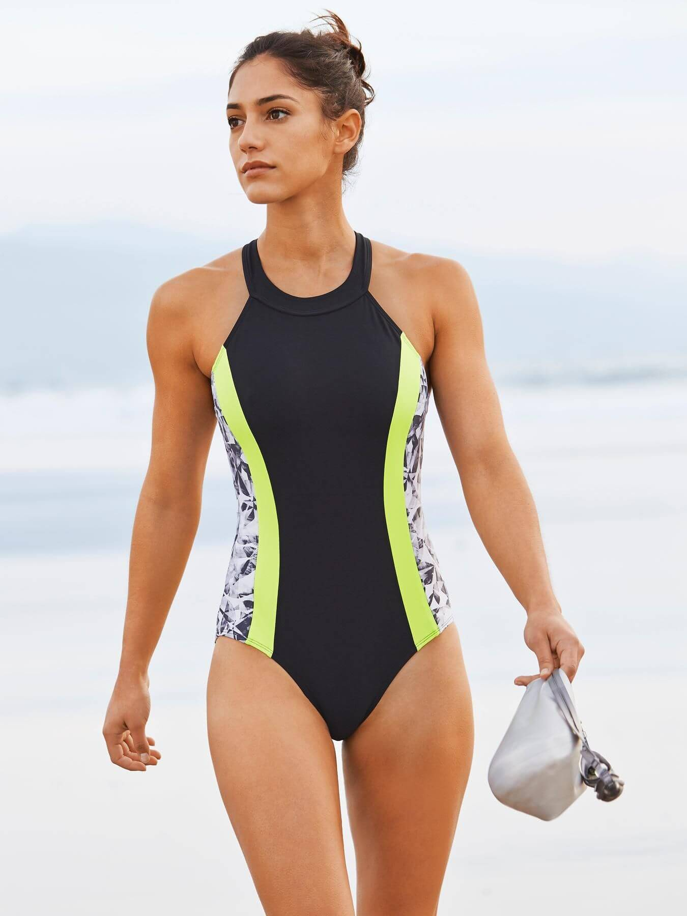 Allison Stokke on Black Swimming Costume