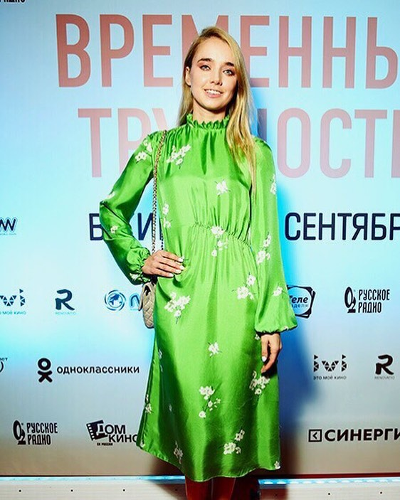 Alyona Chekhova Hot in Green Dress
