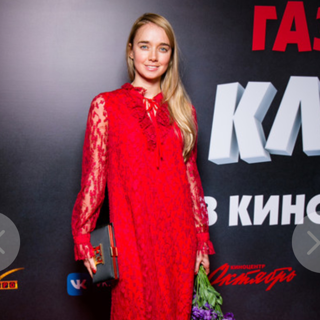 Alyona Chekhova Hot in Red Dress
