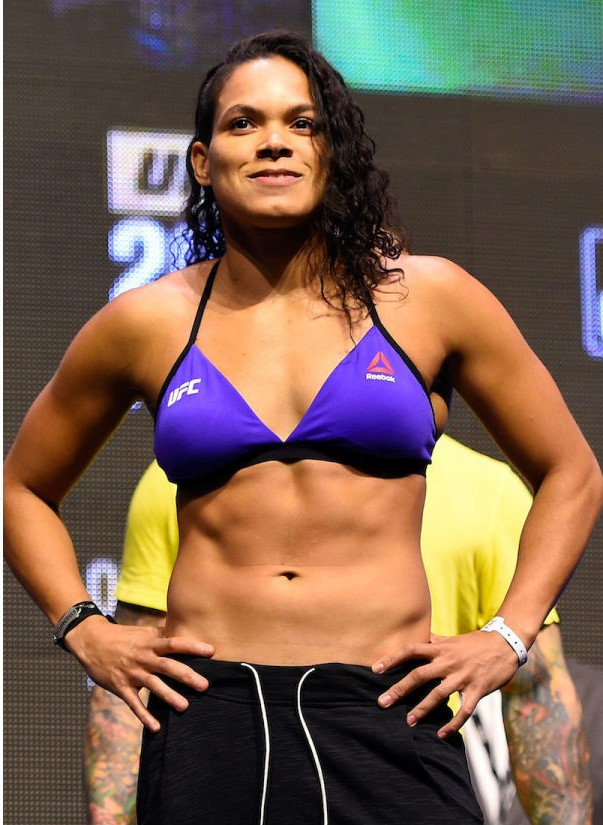 Amanda Nunes Hot in Blue Bikini
