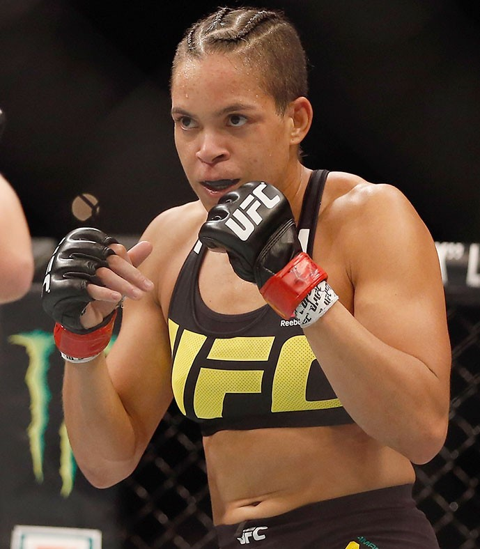 Amanda Nunes Practice for Boxing