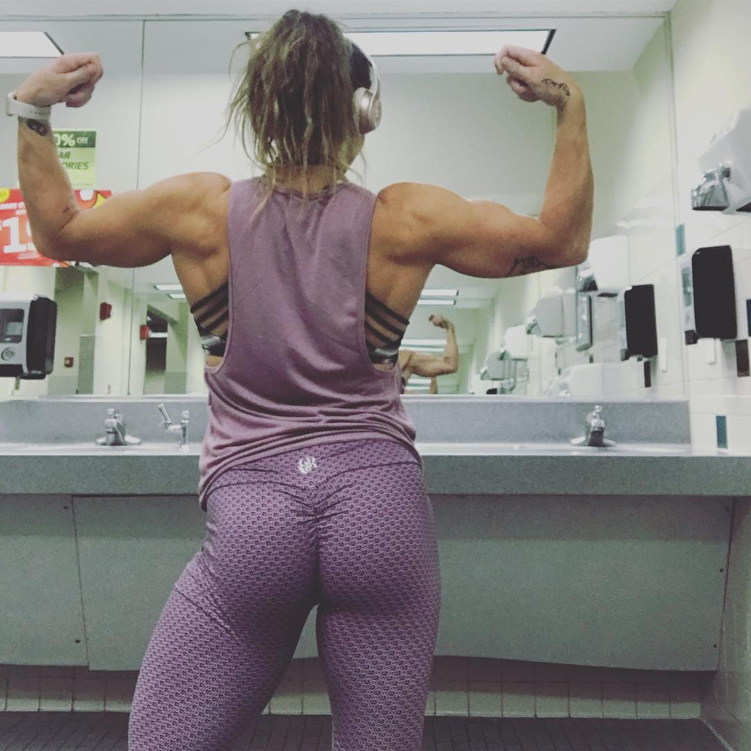 Becca Day Showing Muscle