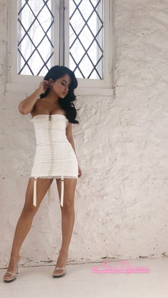 Becky G Hot in Short Dress