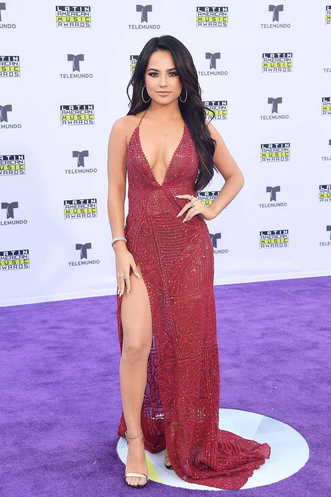 Becky G Sexy Boobs Pics on Hot Dress