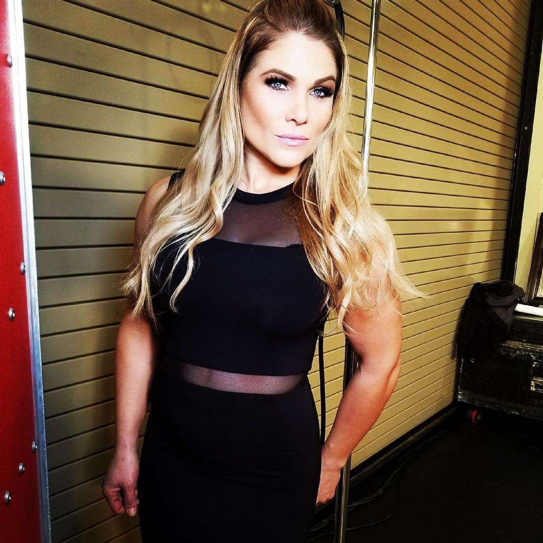 Beth Phoenix sexy black dress