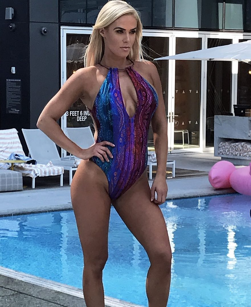 C.J. Perry on Swimming Costume