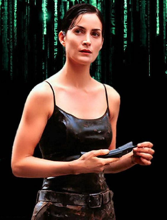 Carrie Anne Moss on Suiting