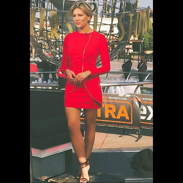 Charissa-Thompson red awesome dress