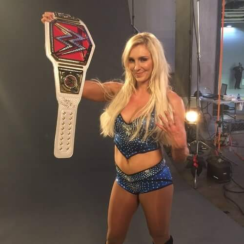 Charlotte Flair hot cleavages pics