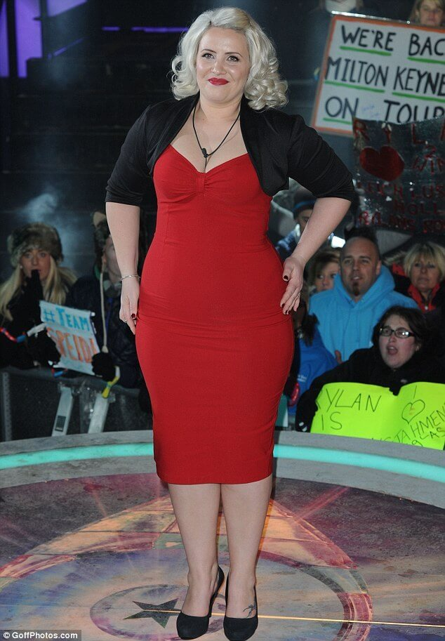 Claire Richards hot red