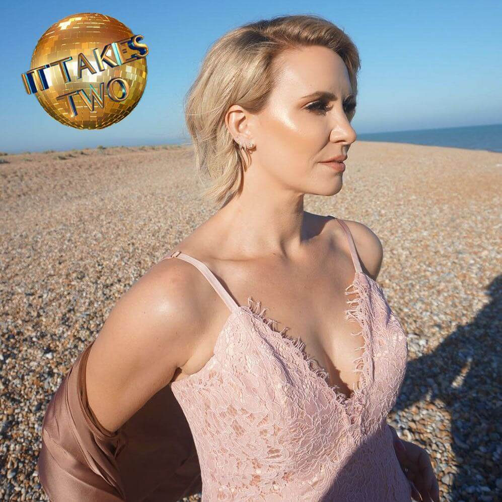 Claire Richards sexy cleavage pic