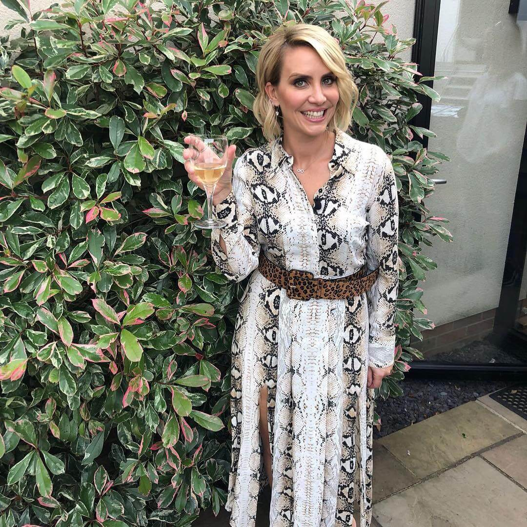 Claire Richards sexy long dress