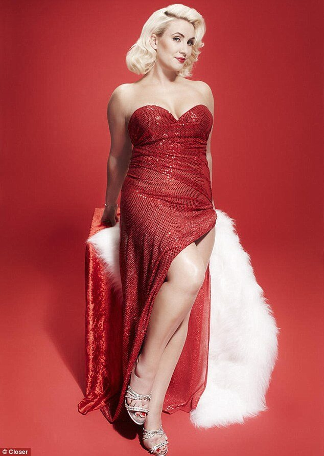 Claire Richards sexy red