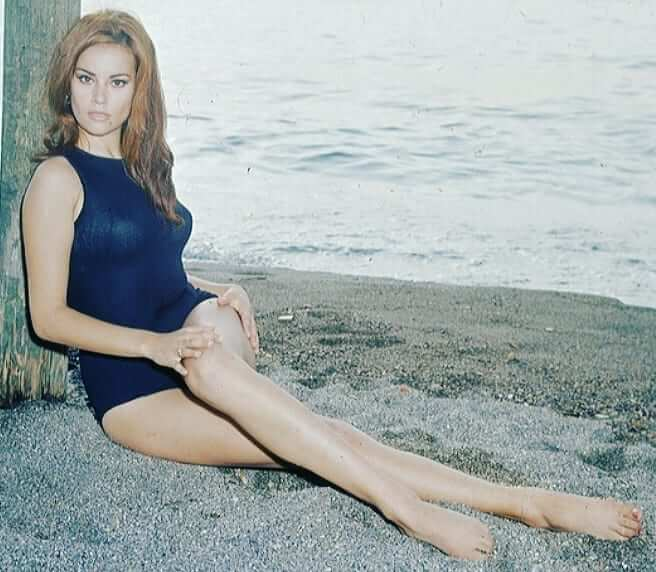 Claudine Auger hot feet