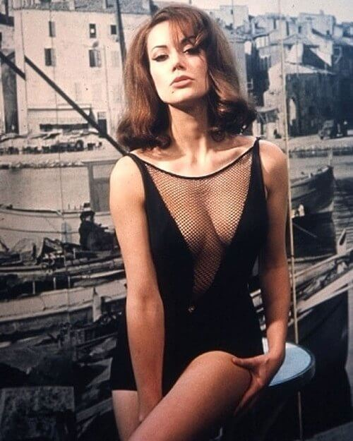 Claudine Auger sexy cleavage