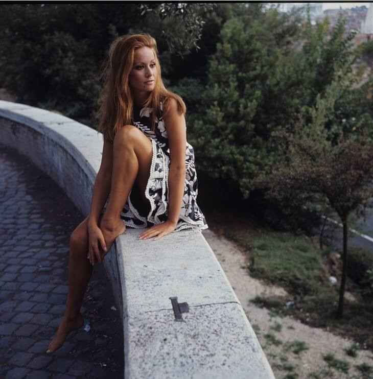 Claudine Auger sexy feet