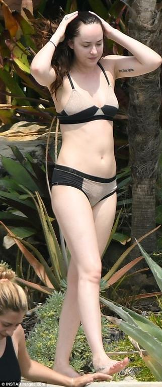 Dakota Johnson black bikini pic
