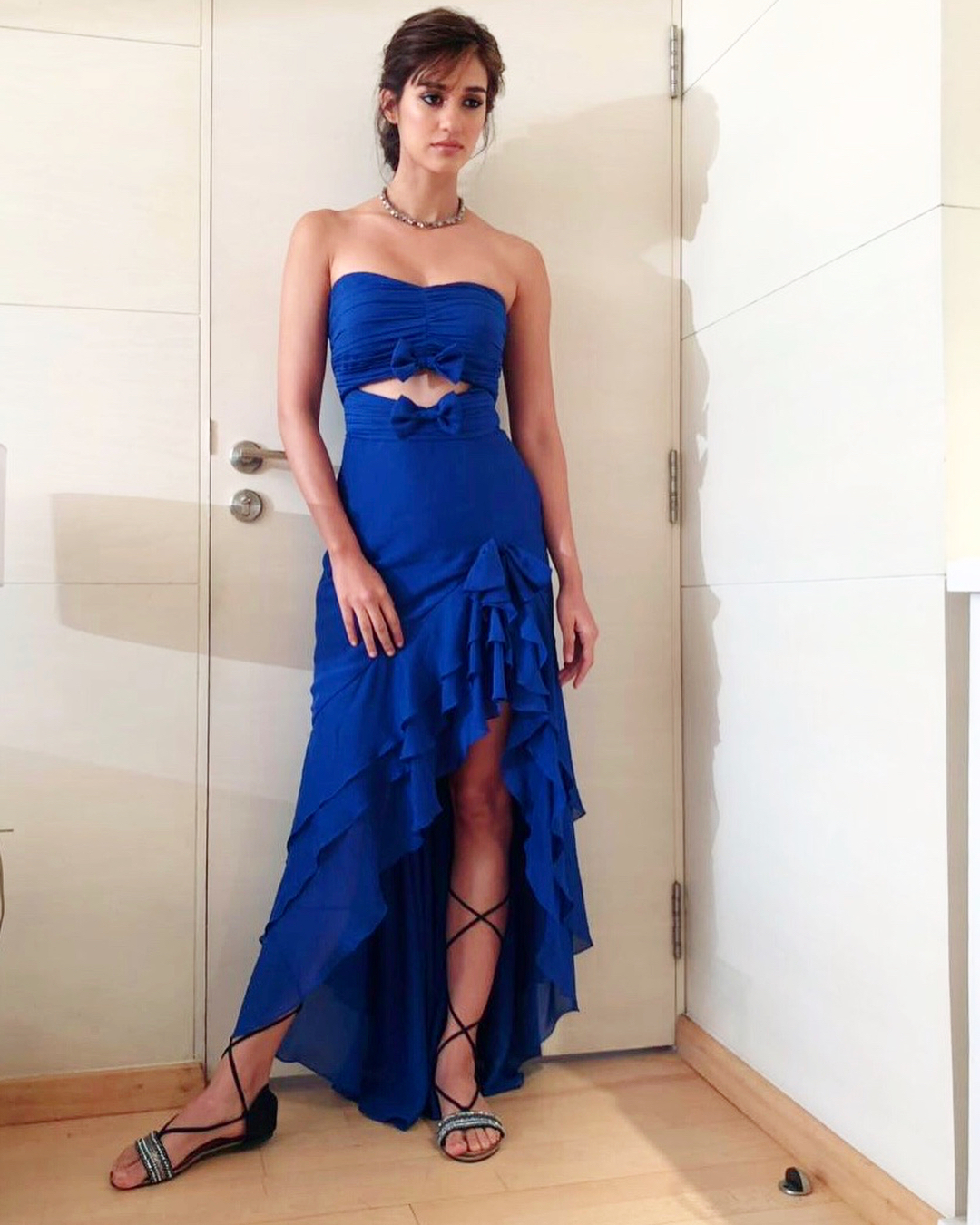 Disha Patani Hot in Blue Dress