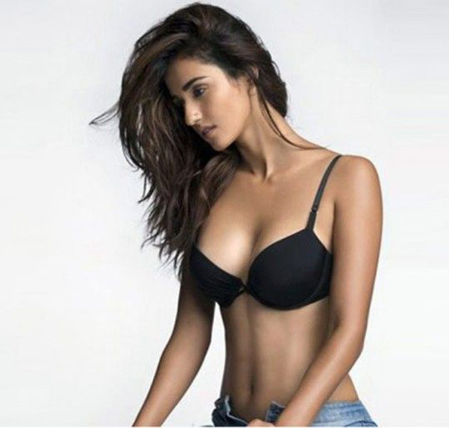 Disha Patani Sexy Big Boobs Pics on Black Bikini