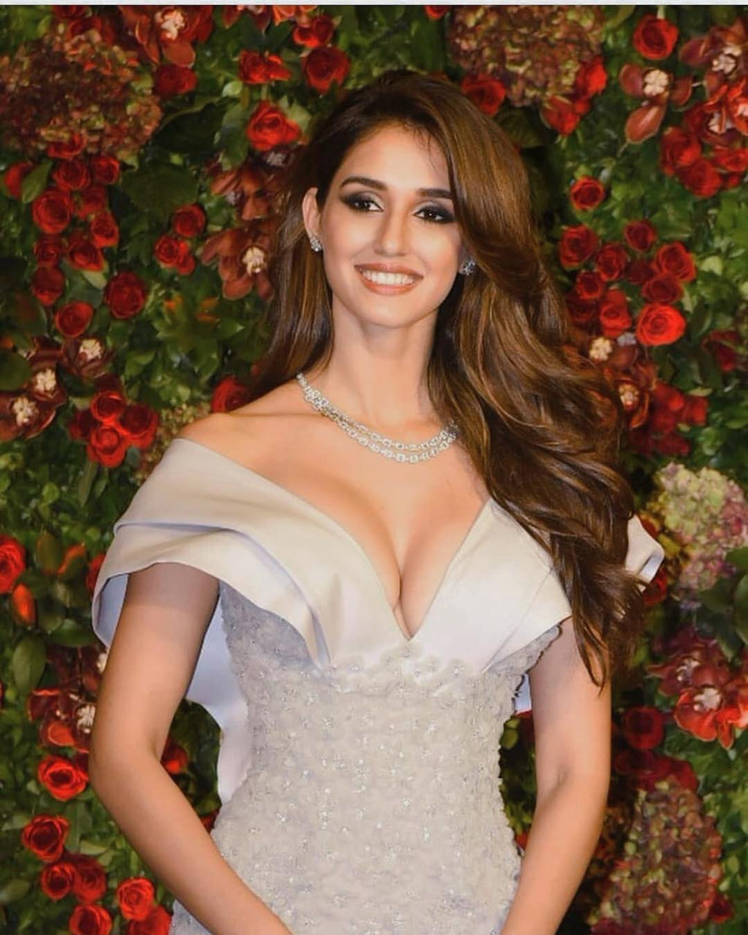 Disha Patani Sexy Big Boobs Pictures on Beautifull Dress