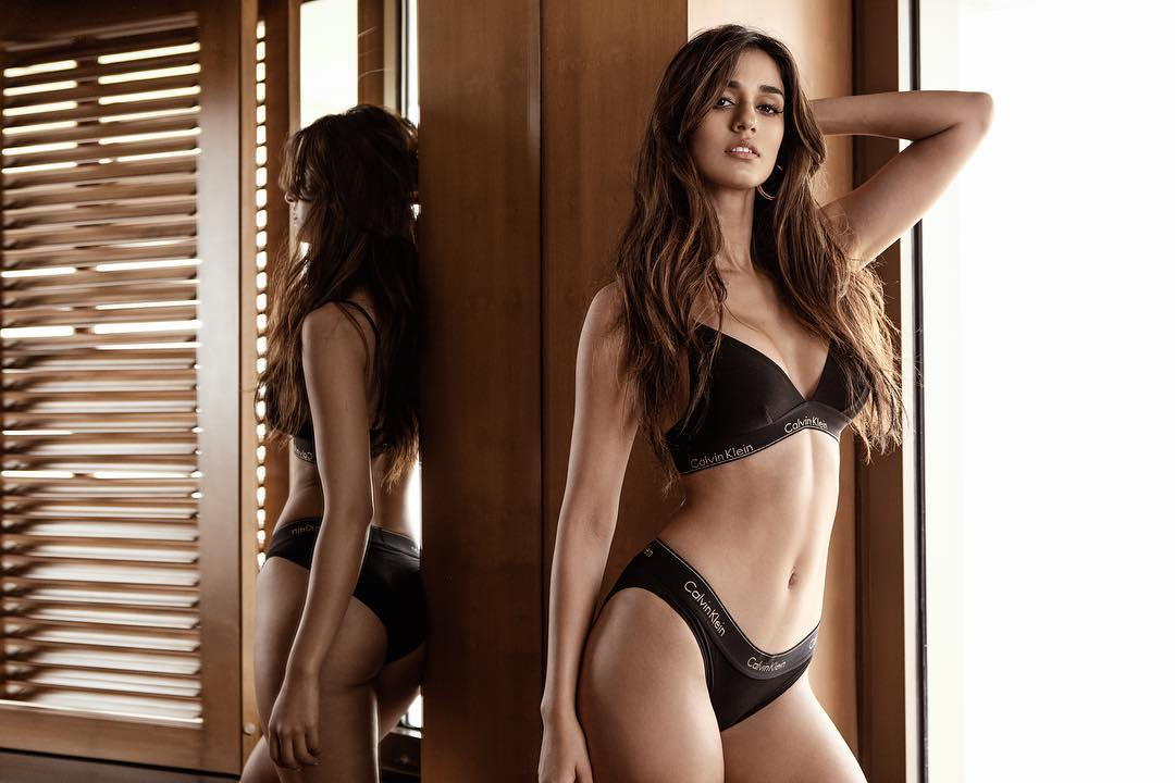Disha Patani Sexy Boobs Pics on Black Bikini