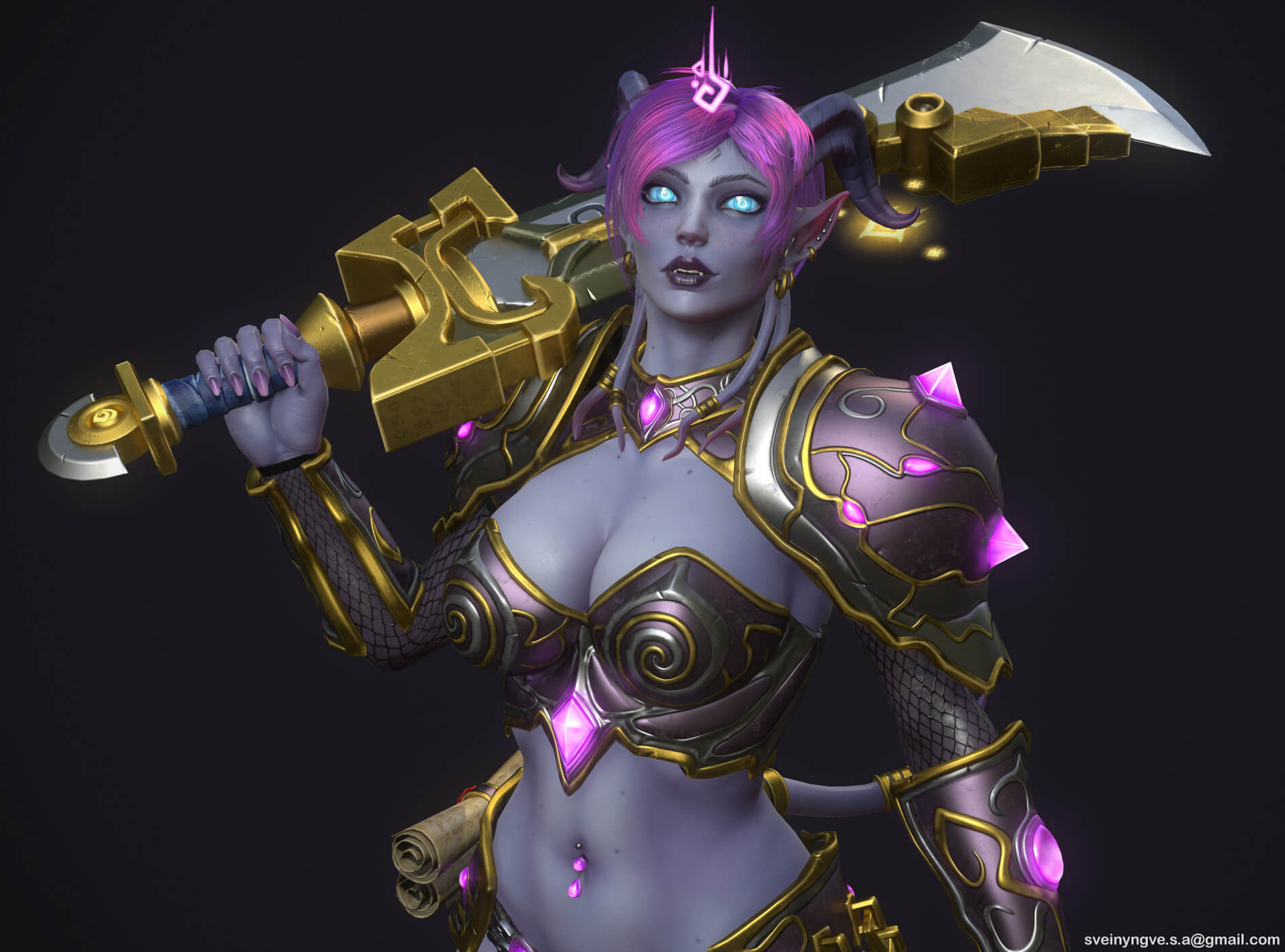 Draenei hot cleavages