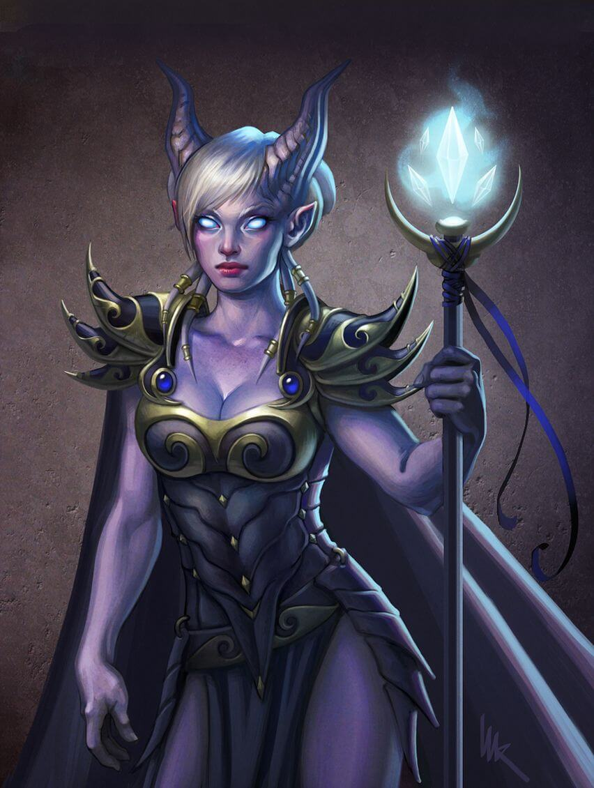 Draenei sexy cleavges
