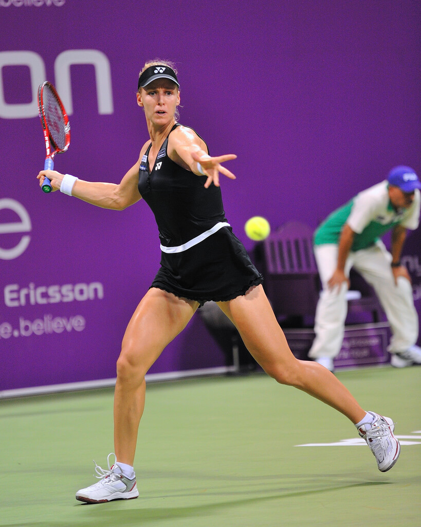 Elena Dementieva awesome thigh