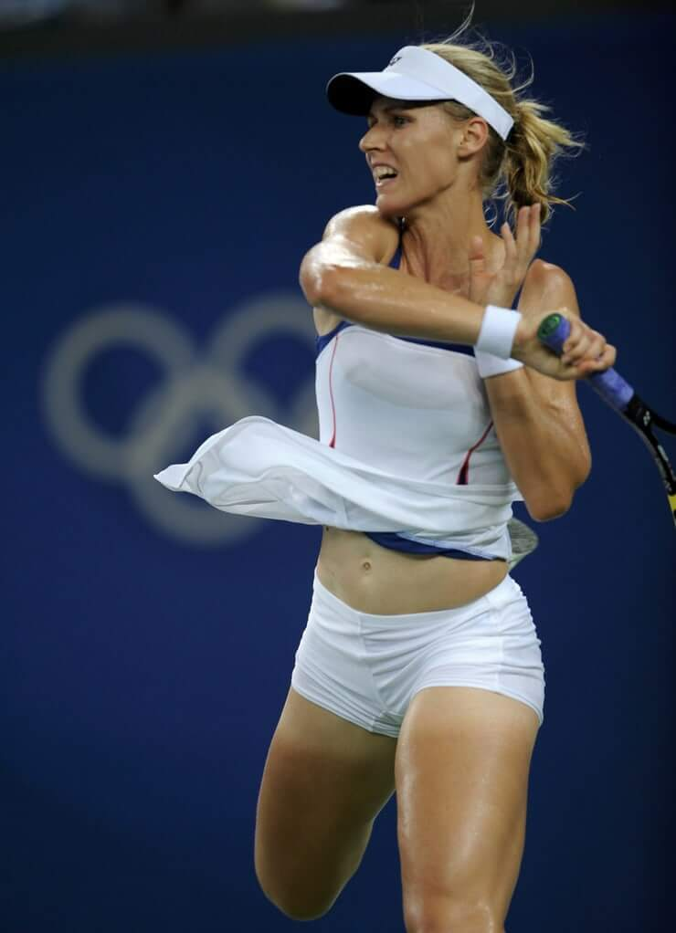 Elena Dementieva hot thigh