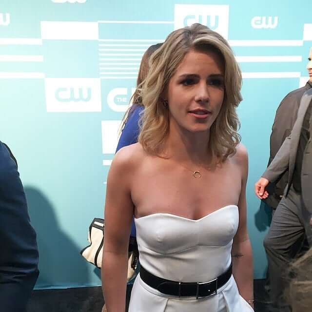 Emily Bett Ricards sexy boobs pic