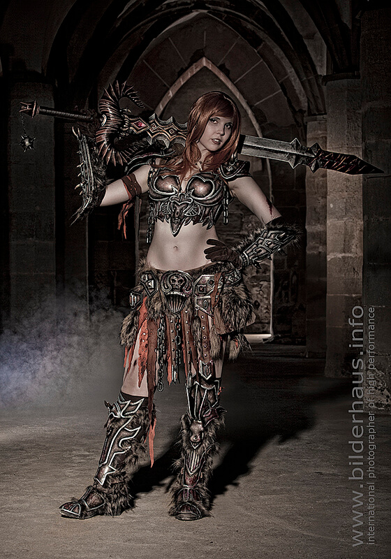 Female barbarian awesome photo