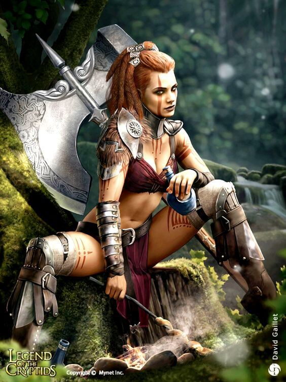 Female barbarian beautiful picture