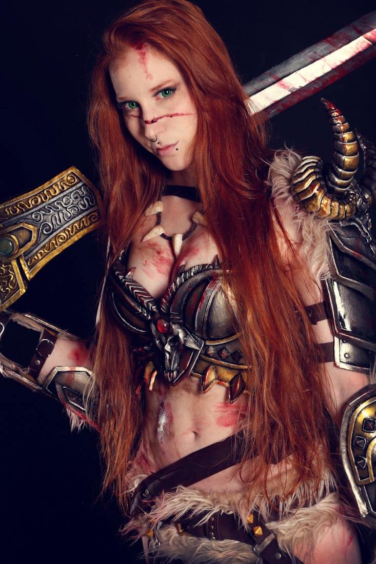 Female barbarian hot cleavages