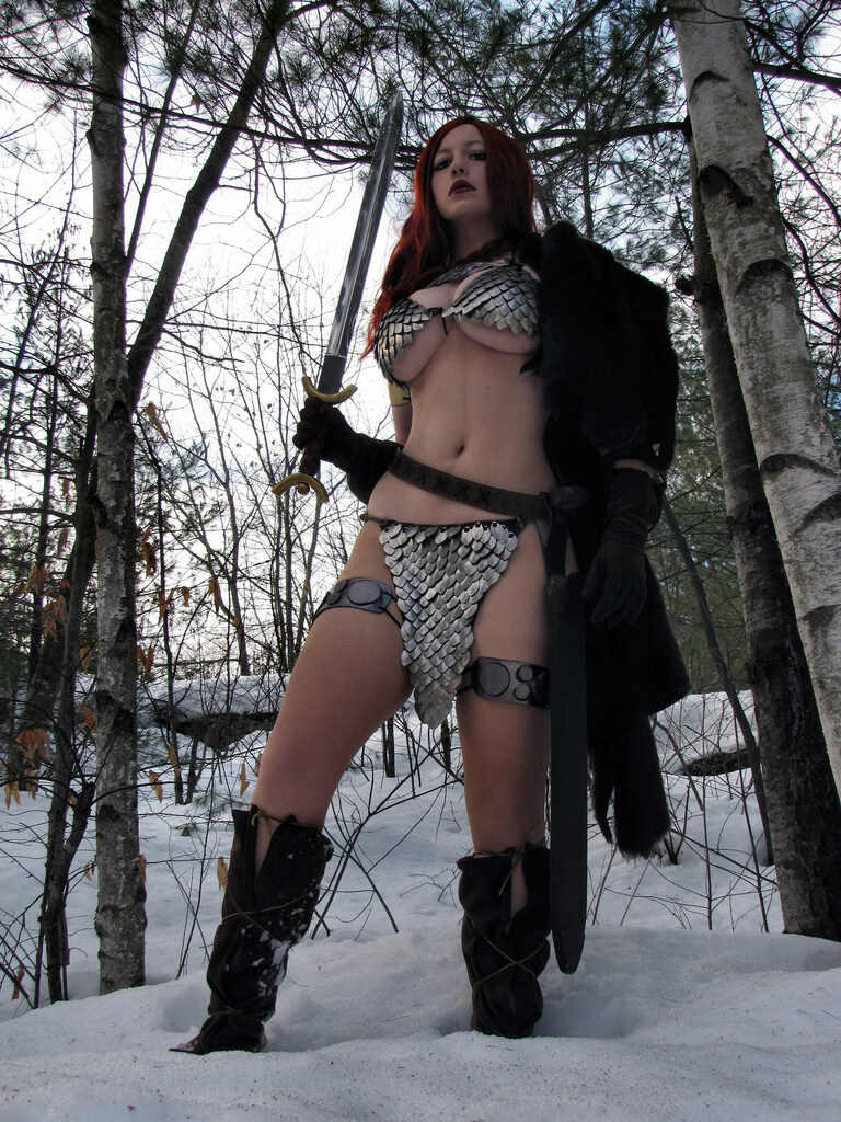 Female barbarian hot thighs