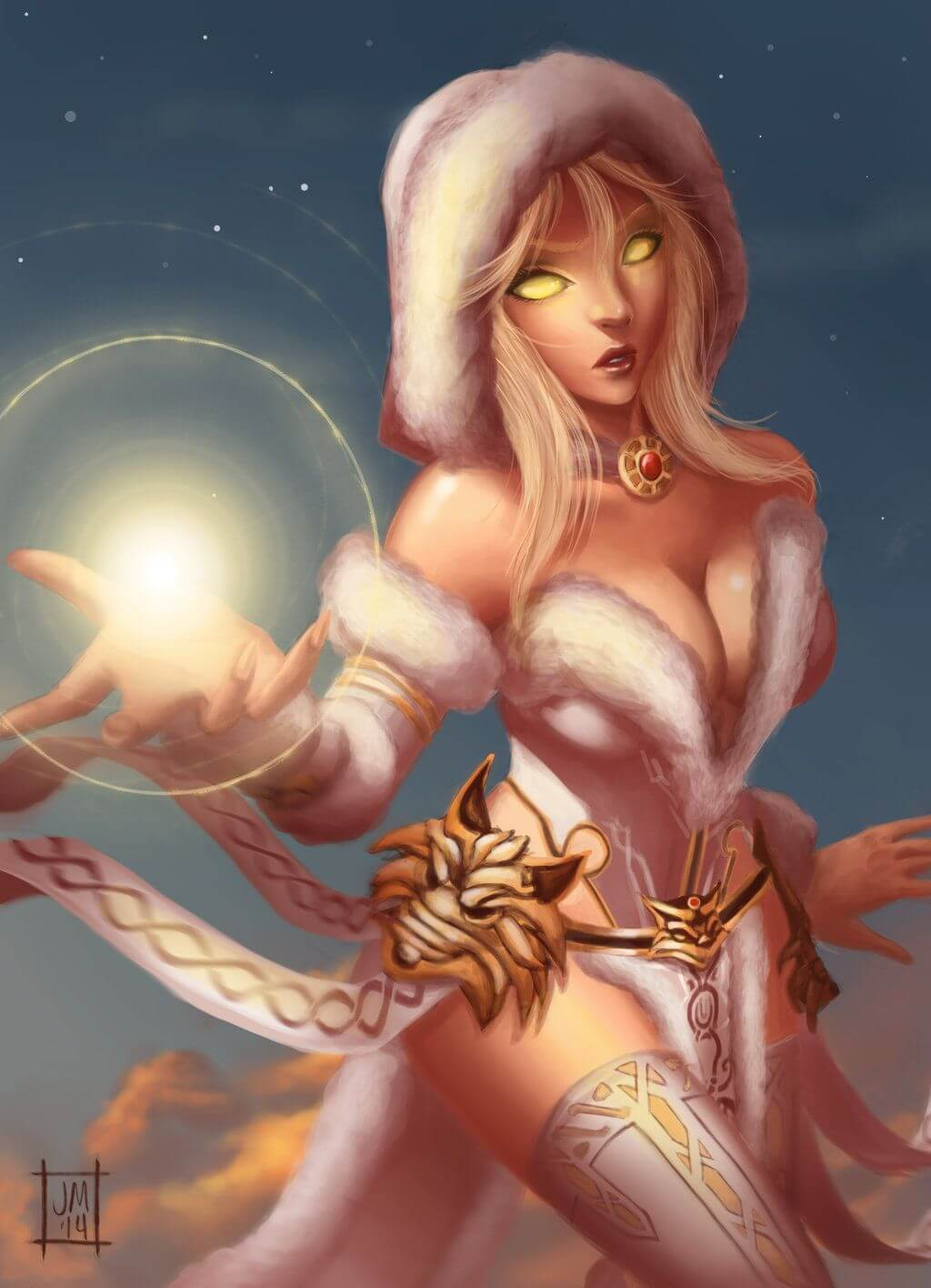 Hel Smite sexy cleavage