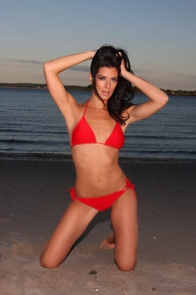 JENNA MORASCA red awesme bikini