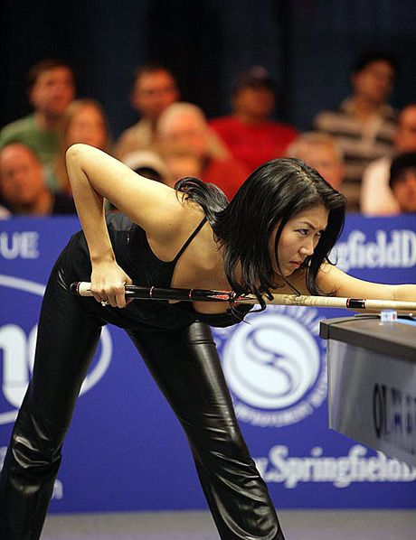 Jeanette Lee Playing Pool