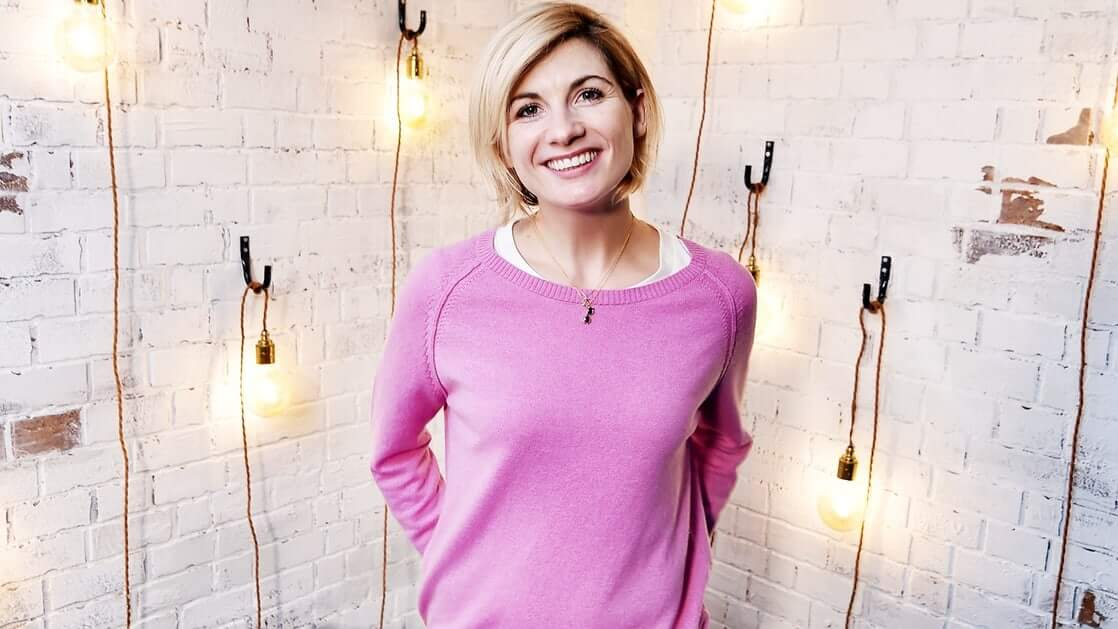 Jodie Whittaker pink dress