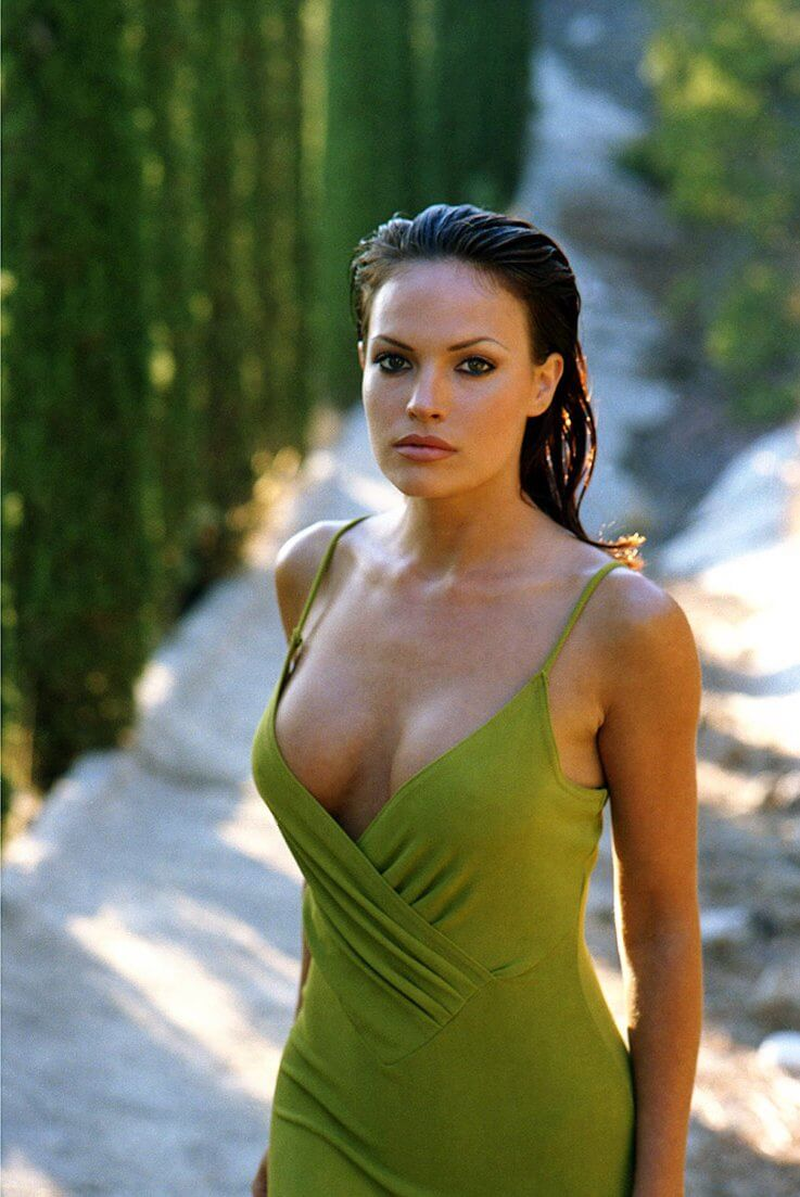 Jolene blalock sexy green dress