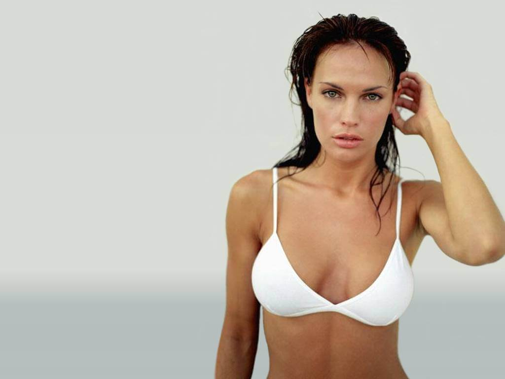 Jolene blalock white bikini photo
