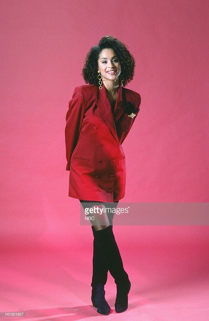 Karyn Parsons sexy red dress