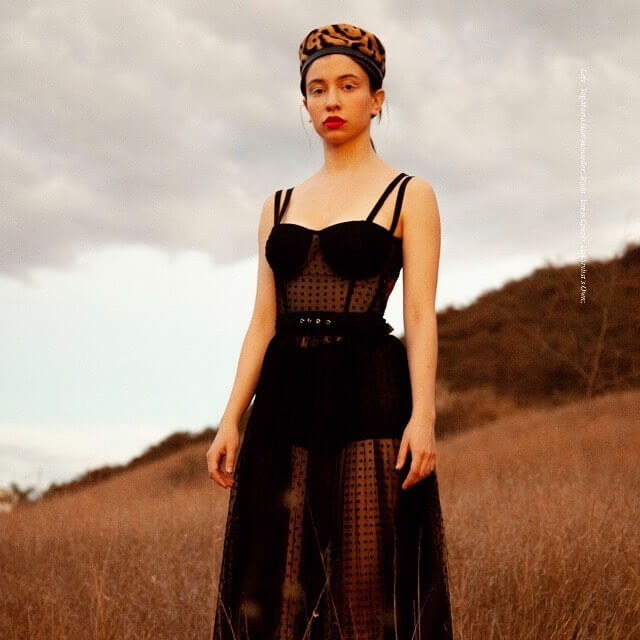 Katelyn Nacon long black dress pic