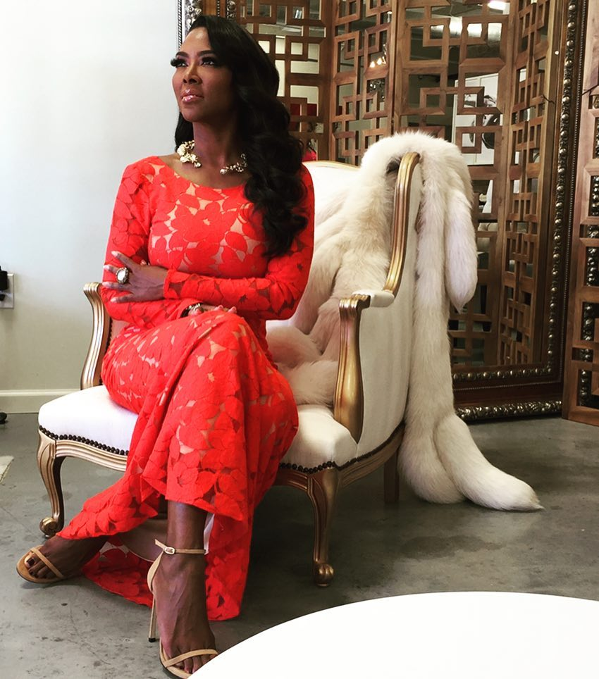 Kenya Moore Hot in Red Dress