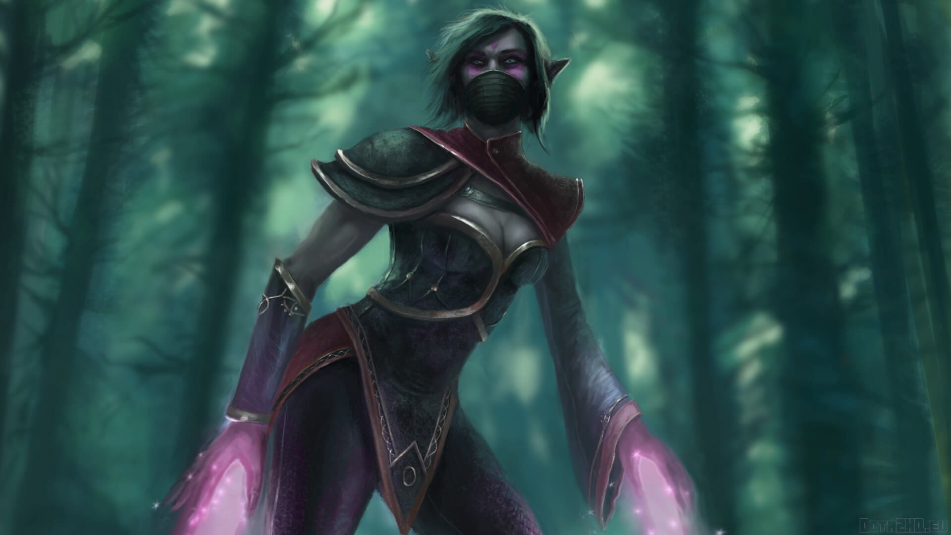 Lanaya Templar Assassin cleavage photo