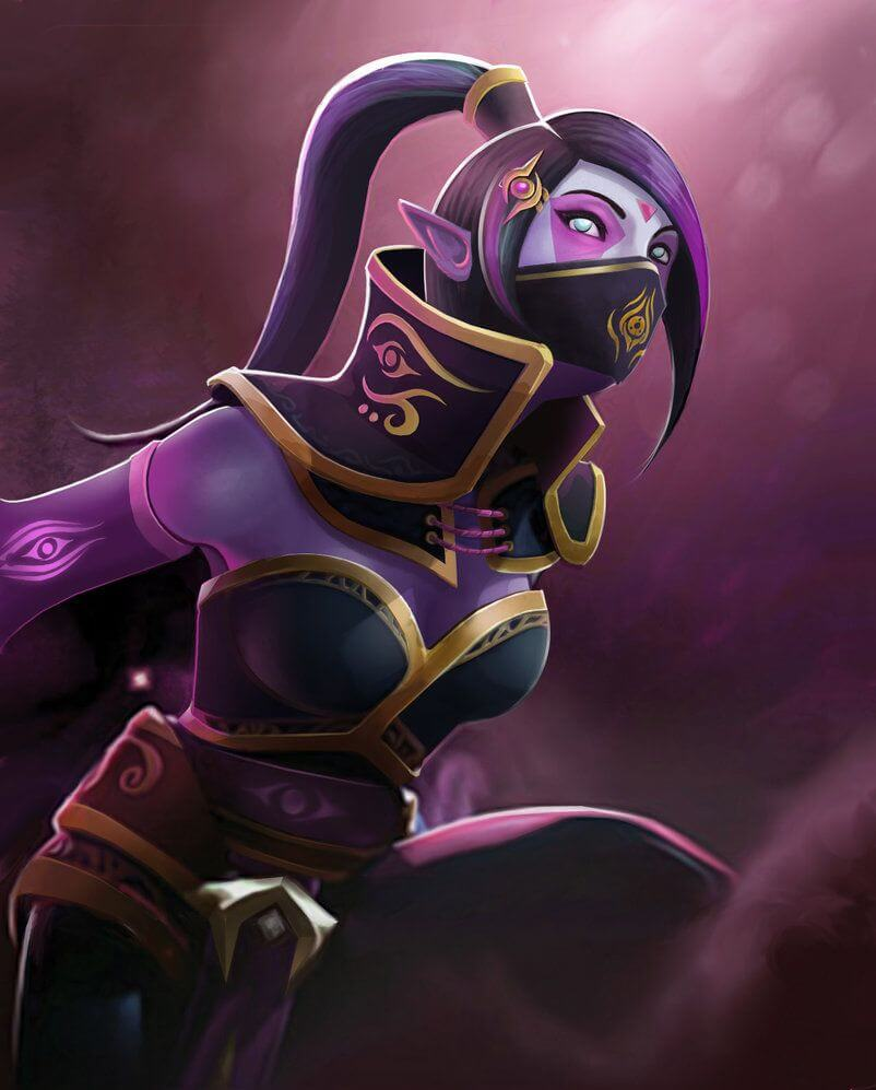 Lanaya Templar Assassin cleavage