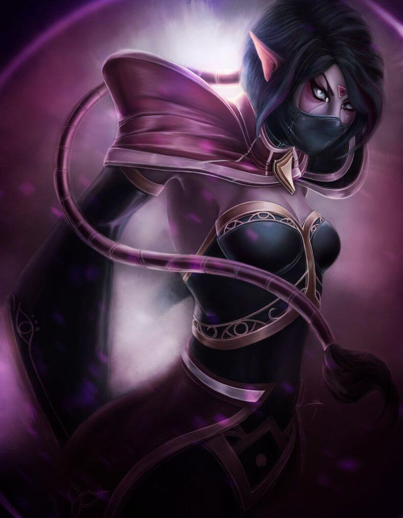 Lanaya Templar Assassin sexy side look