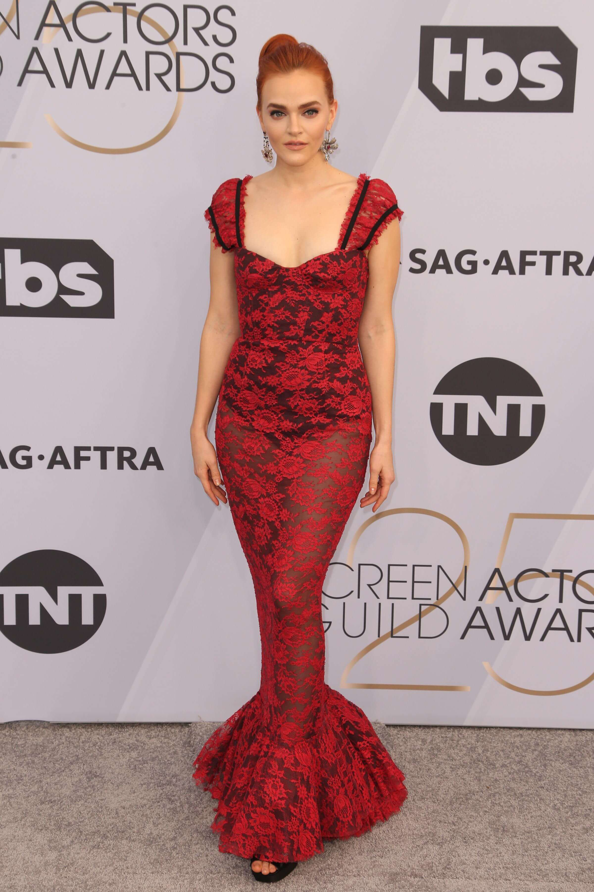 Madeline Brewer red hot look