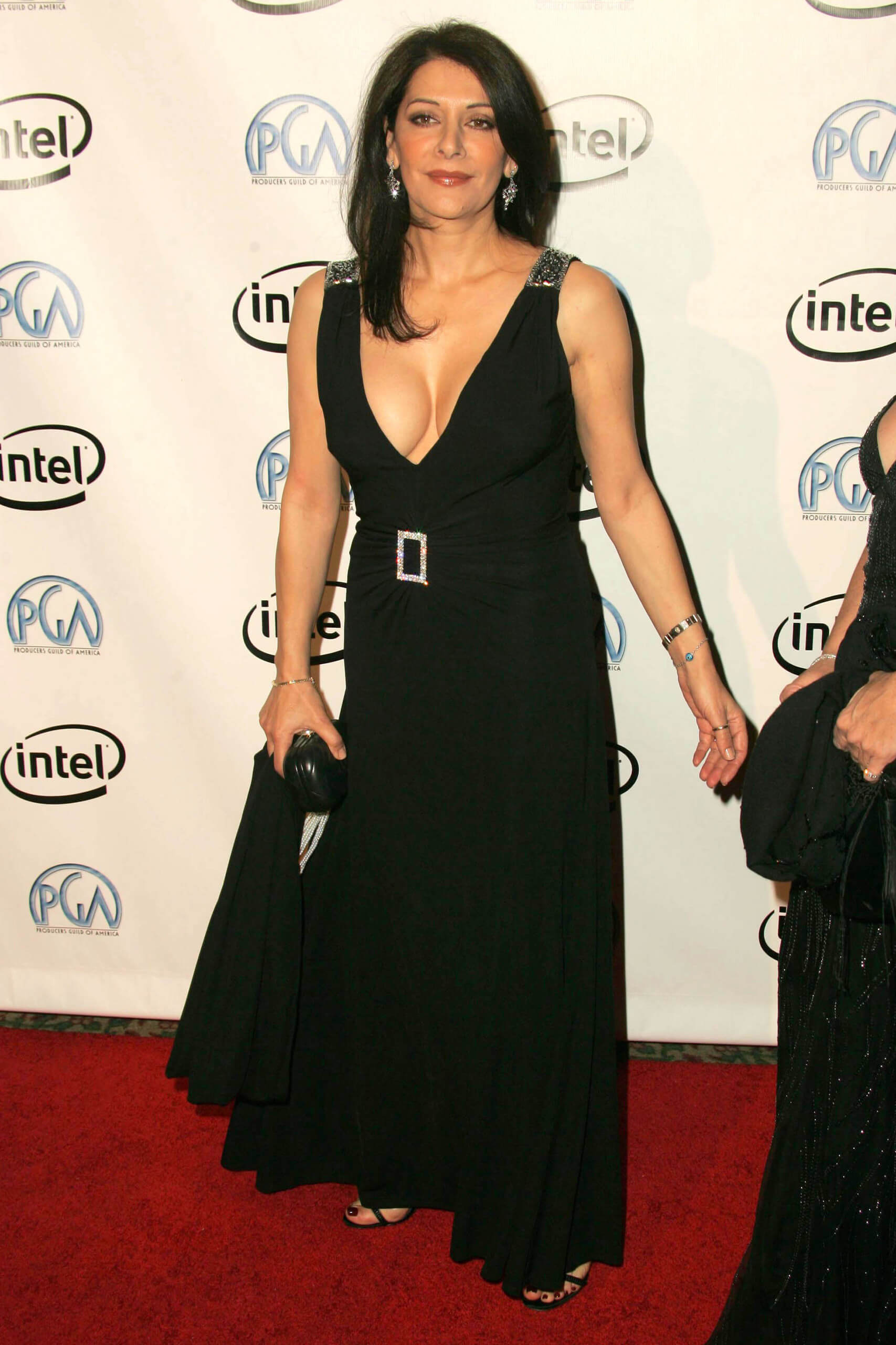 Marina Sirtis hot cleavage (2)